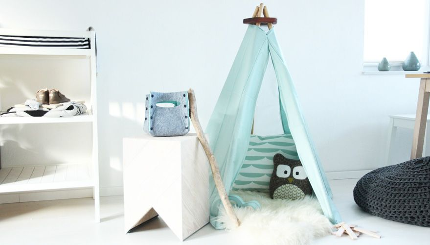 tipi zelt zum zusammenbauen kinder tipi diy roombeez. Black Bedroom Furniture Sets. Home Design Ideas