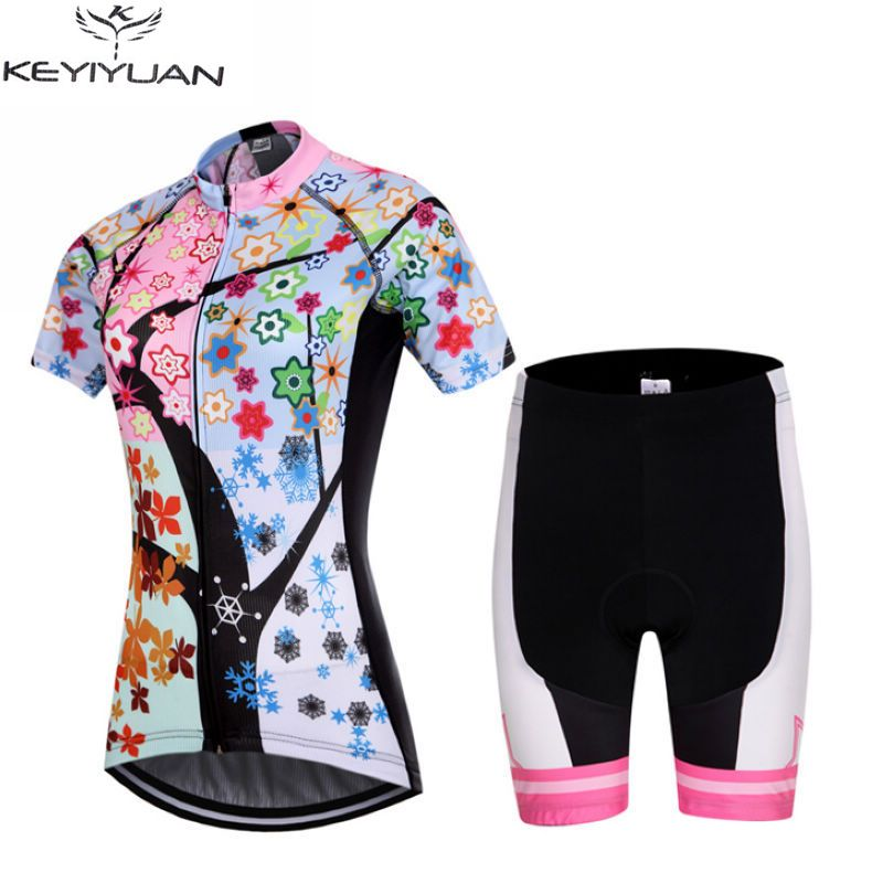 Shorts · KEYIYUAN Ropa Ciclismo Women Pro Team Cycling Jersey Bike Short  Sleeve Clothing Bicycle ... fcabbaebb