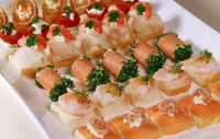 Gezonde partysnacks met vis
