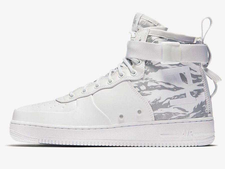 7d7bdbf6424 Nike SF AIR FORCE 1 MID Urban Soldier. Camouflage White. Weisses Camo.