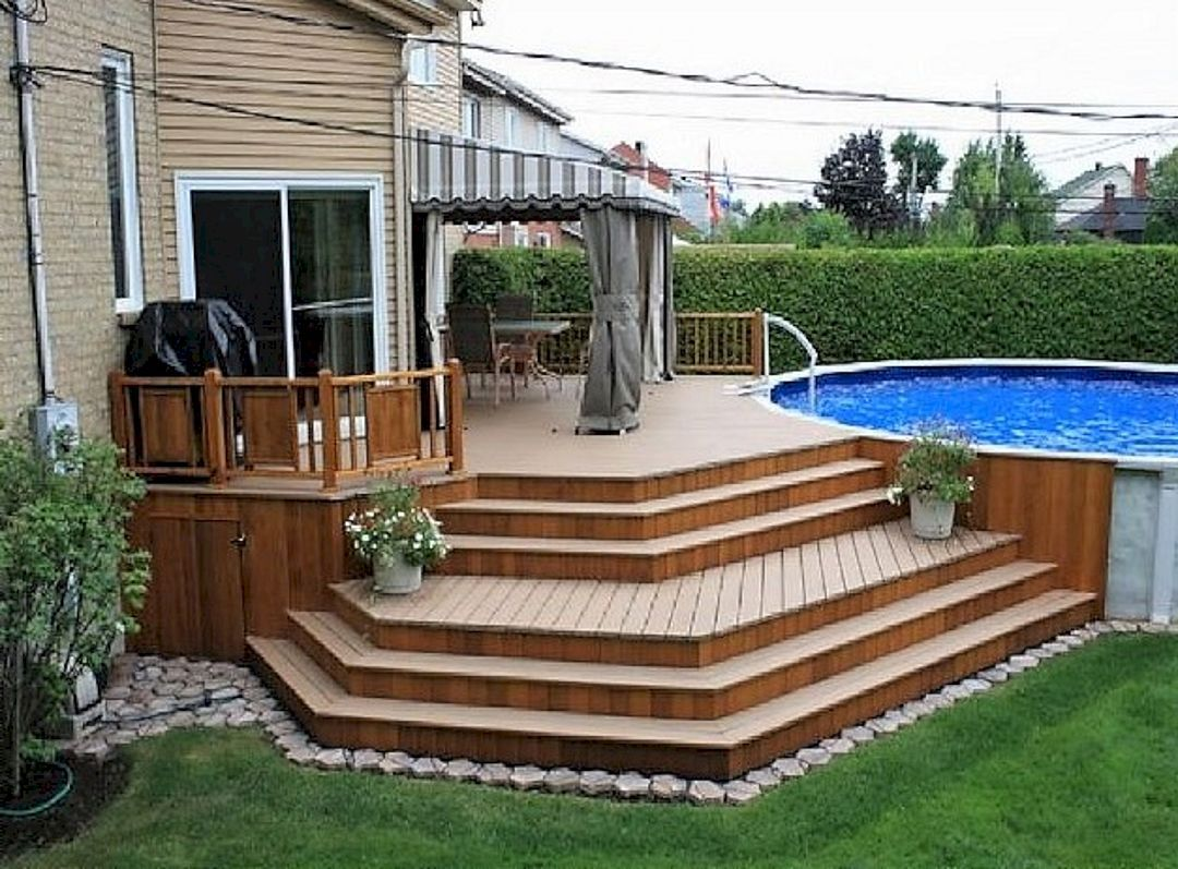 Top 45 diy above ground pool ideas on a budget read - Above ground pool deck ideas on a budget ...