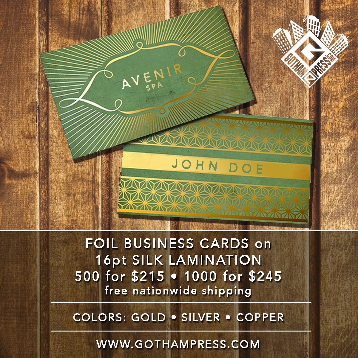 Want Your Business Cards To Stand Out Against The Competitors Make Your Next Batch Of Cards With Bea Foil Business Cards Poster Invitation Comic Book Printing