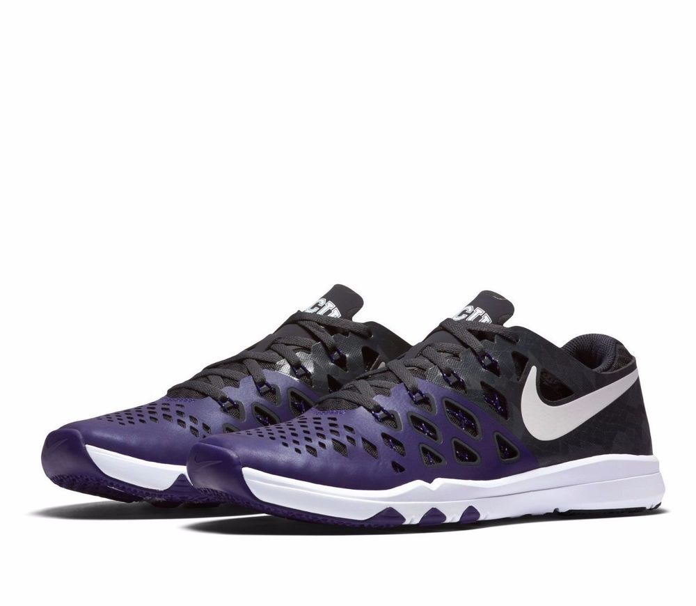 Nike Train Speed 4 AMP TCU Horned Frogs Mens Shoes 12 New Orchid 844102 510  #