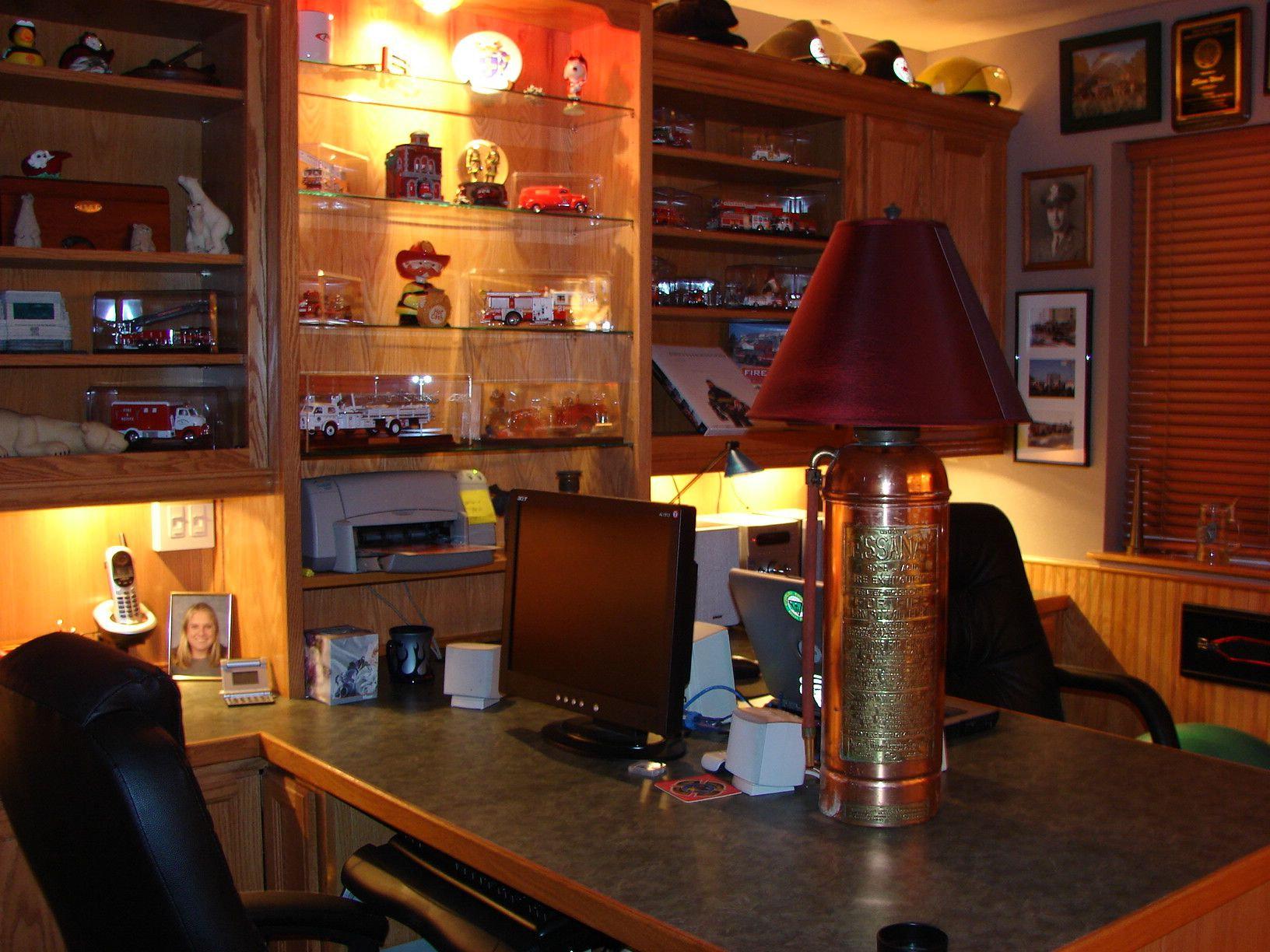 Man Cave Office Designs : Man cave my firefighter nation stuff to