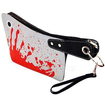 Kreepsville Cleaver Handbag Horror Zombie Punk Gothic Rockabilly Purse Blood