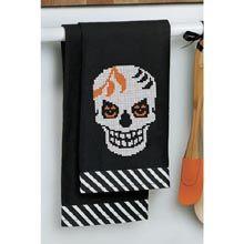 Bone Appetit Towel Pair Stamped Cross-Stitch Kit - Herrschners