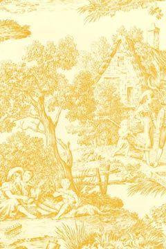 Toulouse Toile Wallpaper - French Scenic Scene [FRA-1720] : Designer Wallcoverings, Specialty Wallpaper for Home or Office