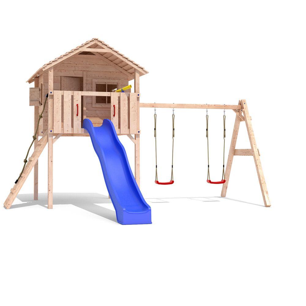 fridolino spielturm baumhaus stelzenhaus schaukel kletterturm rutsche holz drau en. Black Bedroom Furniture Sets. Home Design Ideas