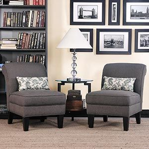 Grey Chairs Or Couch With A Fun Color For The Walls And Accent
