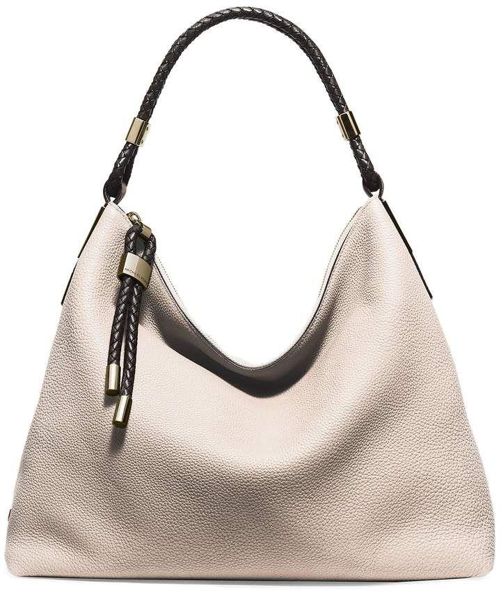 7cf3d1e45640 Michael Kors Skorpios Large Pebbled Leather Shoulder Bag ...