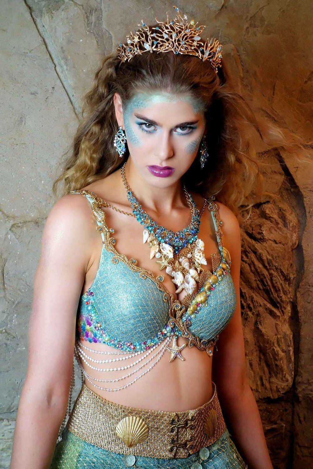Mermaid Crown - Sea Siren Costume (or Sea Goddess, Sea Witch, and ...