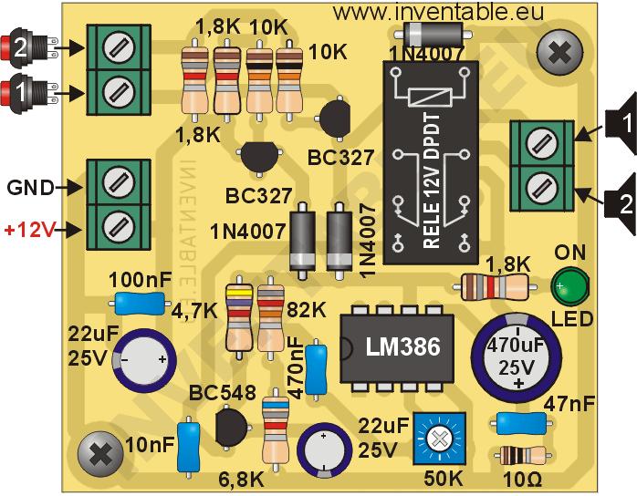 Proyecto Completo Para La Construcción De Un Pequeño Intercomunicador Fáci Intercomunicador Circuitos Electronicos Para Armar Diseño De Circuitos Electrónicos
