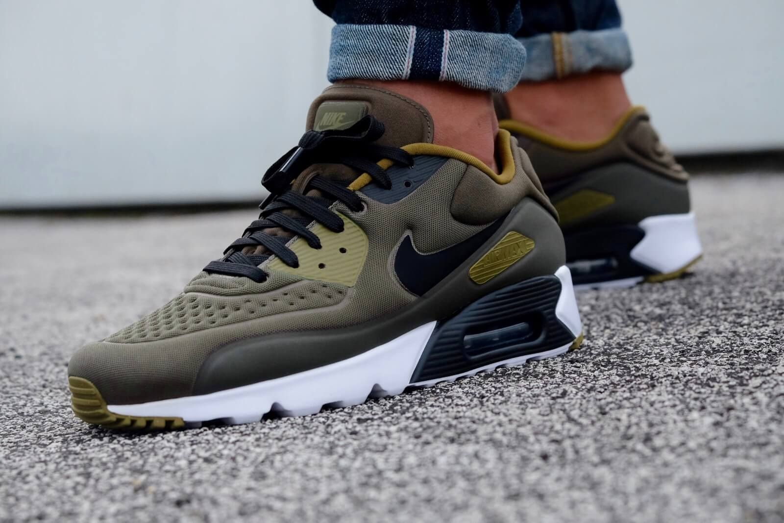 pretty nice adf87 57a39 Nike Air Max 90 Ultra Special Edition Cargo Khaki  Black-Olive Flak-White -  845039-300   Sneaker High   Air max sneakers, Nike air max, Basket nike