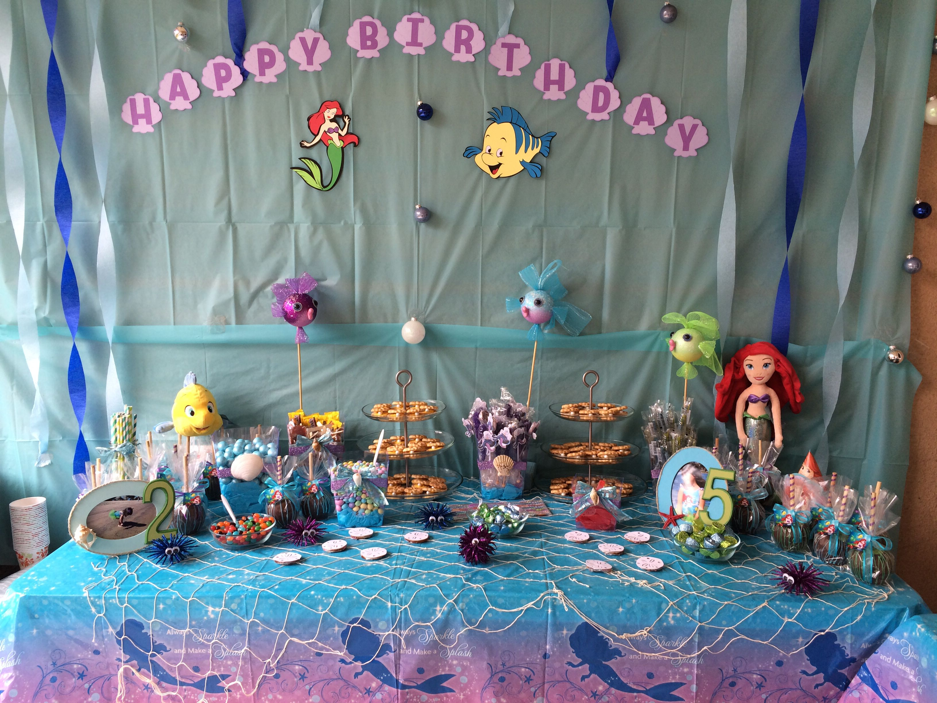 Little Mermaid Candy Table Party Time Candy Table 1st Birthday
