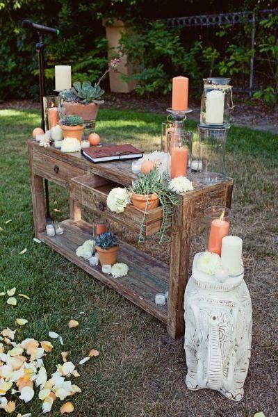 Altars:  Pagan Altar. (Possibly for Ostara? I think I see some eggs...)