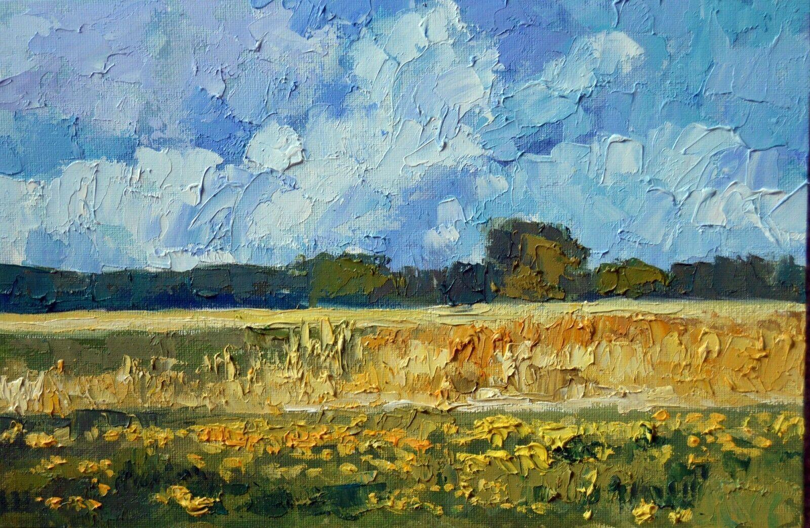 Fields Of Grain Harvest Impressionist Landscape Oil Painting Idkowiak Painting Ideas Of Painting Painting Impressionist Landscape Painting Oil Painting