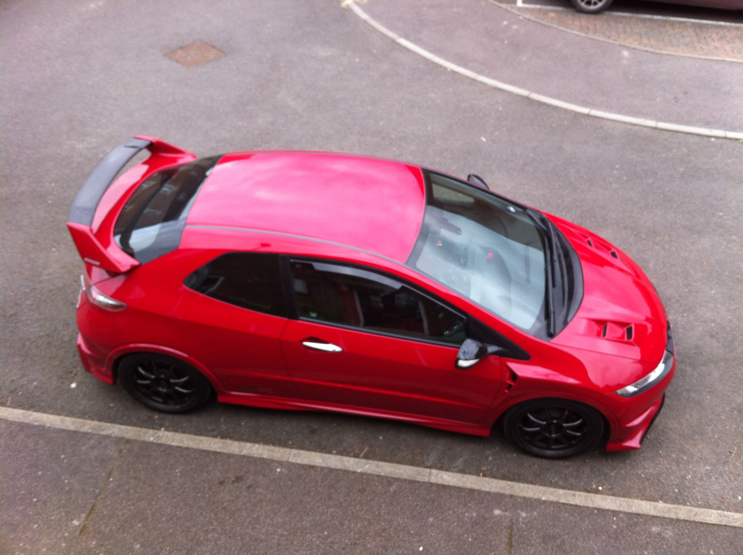 Honda civic type r 2015 roof see more my fn2 with aero fenders and aero kit frp vented bonnet