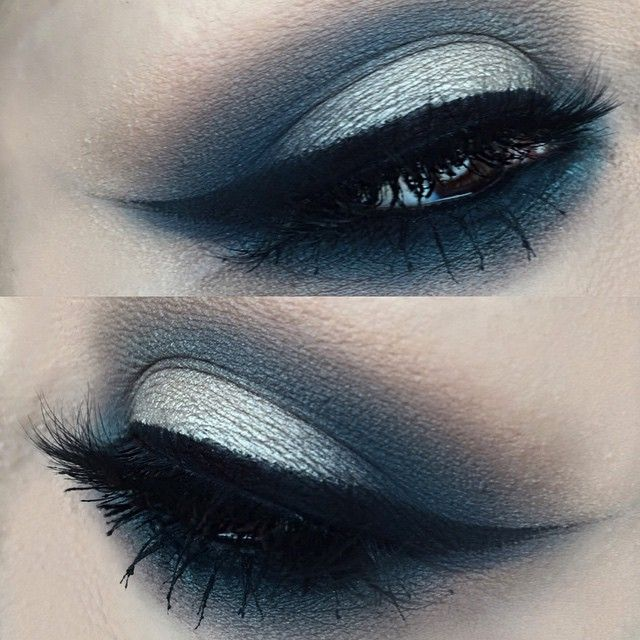 using #meltcosmetics FIXATED grey eyeshadow in the crease , @thekatvond telepathy Eyeshadow on the lid, @makeupforeverofficial me-302 eyeshadow on the inner corner  @lashesbylena lash #meltlovesick