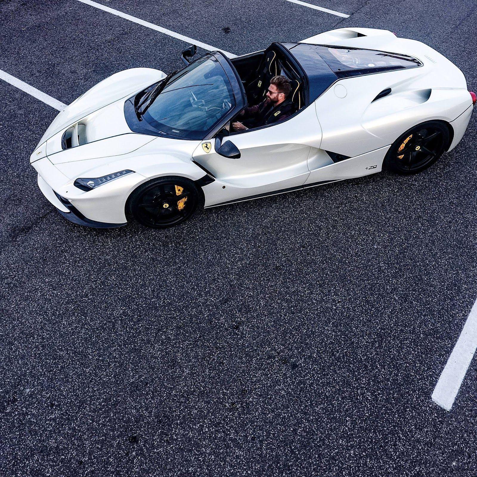 Josh Cartu S White Laferrari Aperta Is Simply Breathtaking Carscoops Ferrari Laferrari Sports Bikes Motorcycles Ferrari