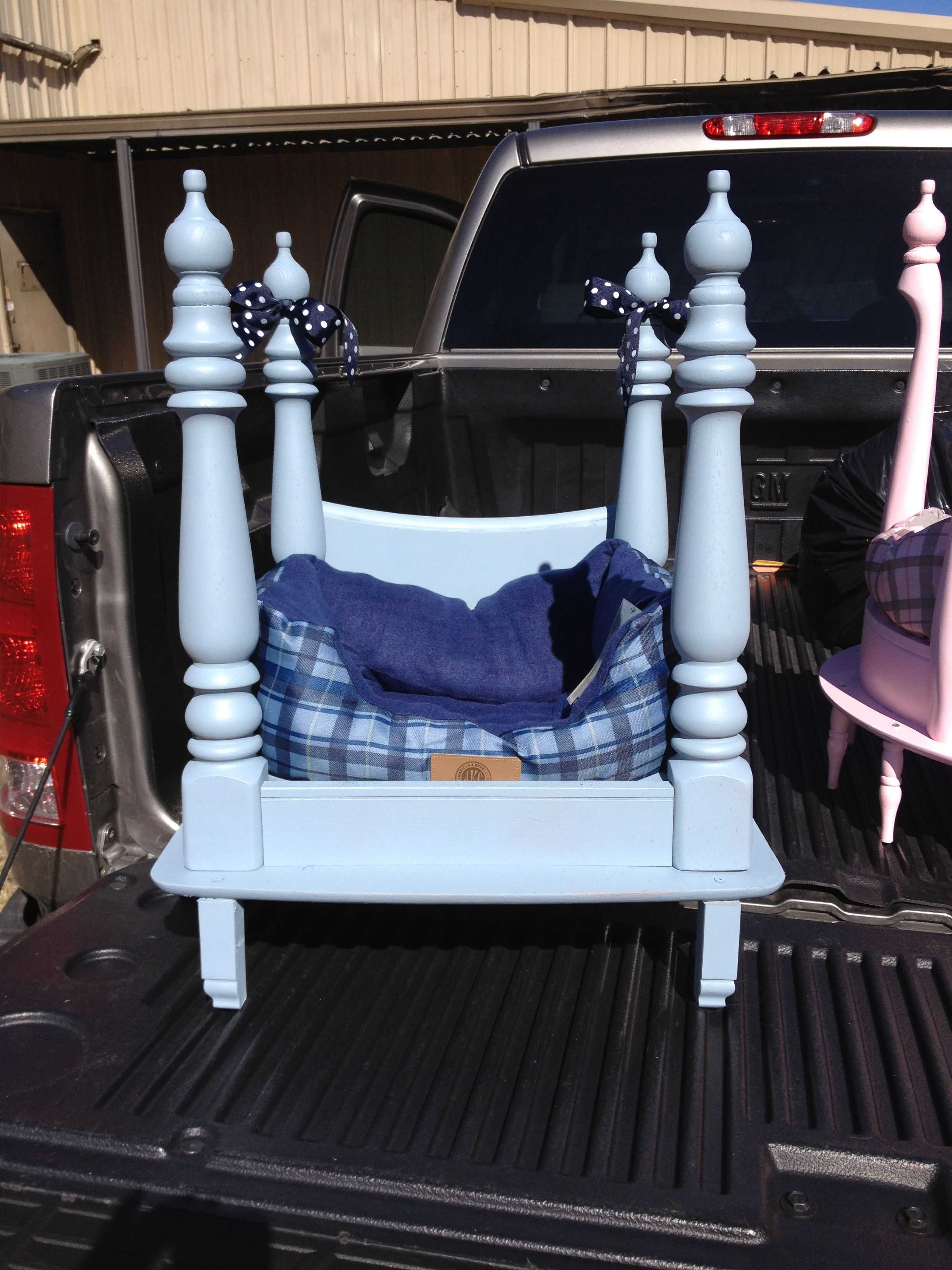 Dog bed made from end table Diy projects for bedroom