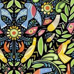 In Beginning Paschkis Chickadee Folk Art Hedge