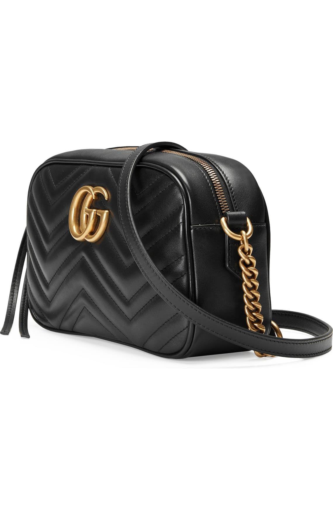 Gucci Small Gg Marmont 2.0 Matelassé Leather Camera Bag in