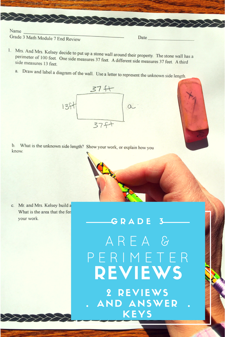 Area and Perimeter Grade 3 End Mod 7 Reviews & Answer Keys | Math ...