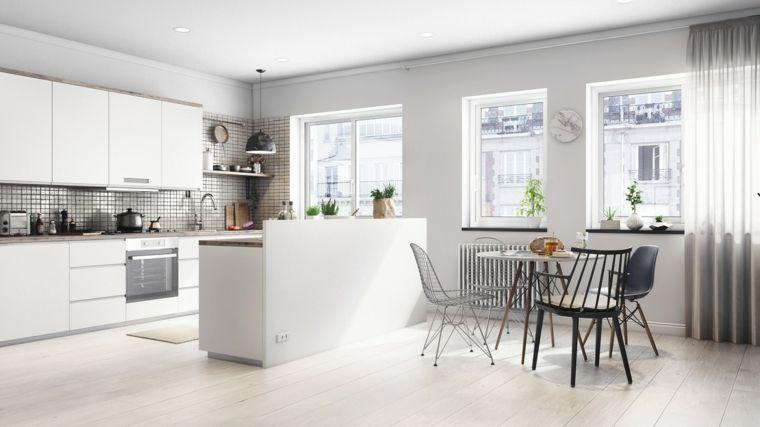 come-arredare-soggiorno-cucina-mobili-bianchi-lineari-isola-divide ...