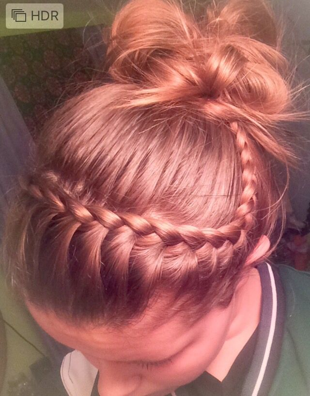 volleyball hair. 's easy