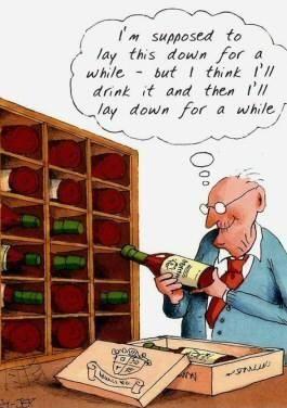 Laying down wine