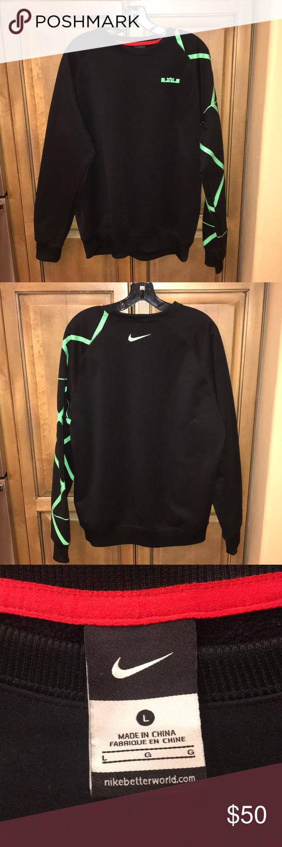 Nike Sweatshirt For Lebron James Sweatshirts Nike Sweatshirts Nike Pullover [ 1740 x 580 Pixel ]