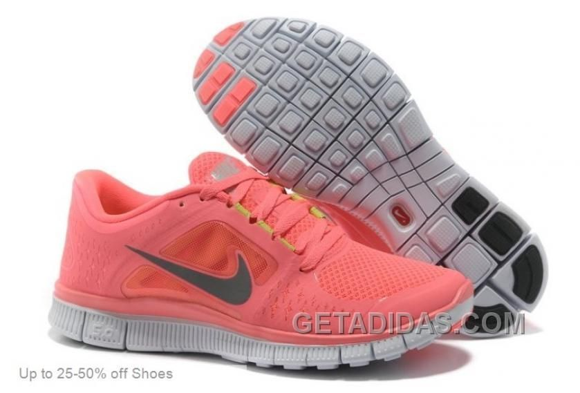 beedfb29f237 NIKE RUNNING SHOES WOMEN FREE RUN 5.0 PINK LASTEST Only  66.00