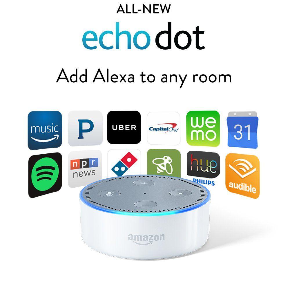 Allnew amazon echo dot add alexa to any room
