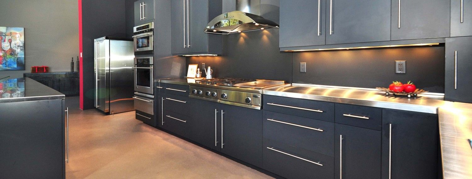 Stainless Countertop Kitchen Room Luxury Homes Home