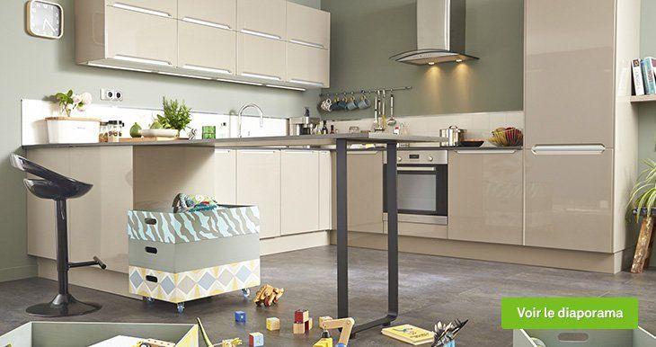 meuble de cuisine taupe delinia milano | leroy merlin | cuisine