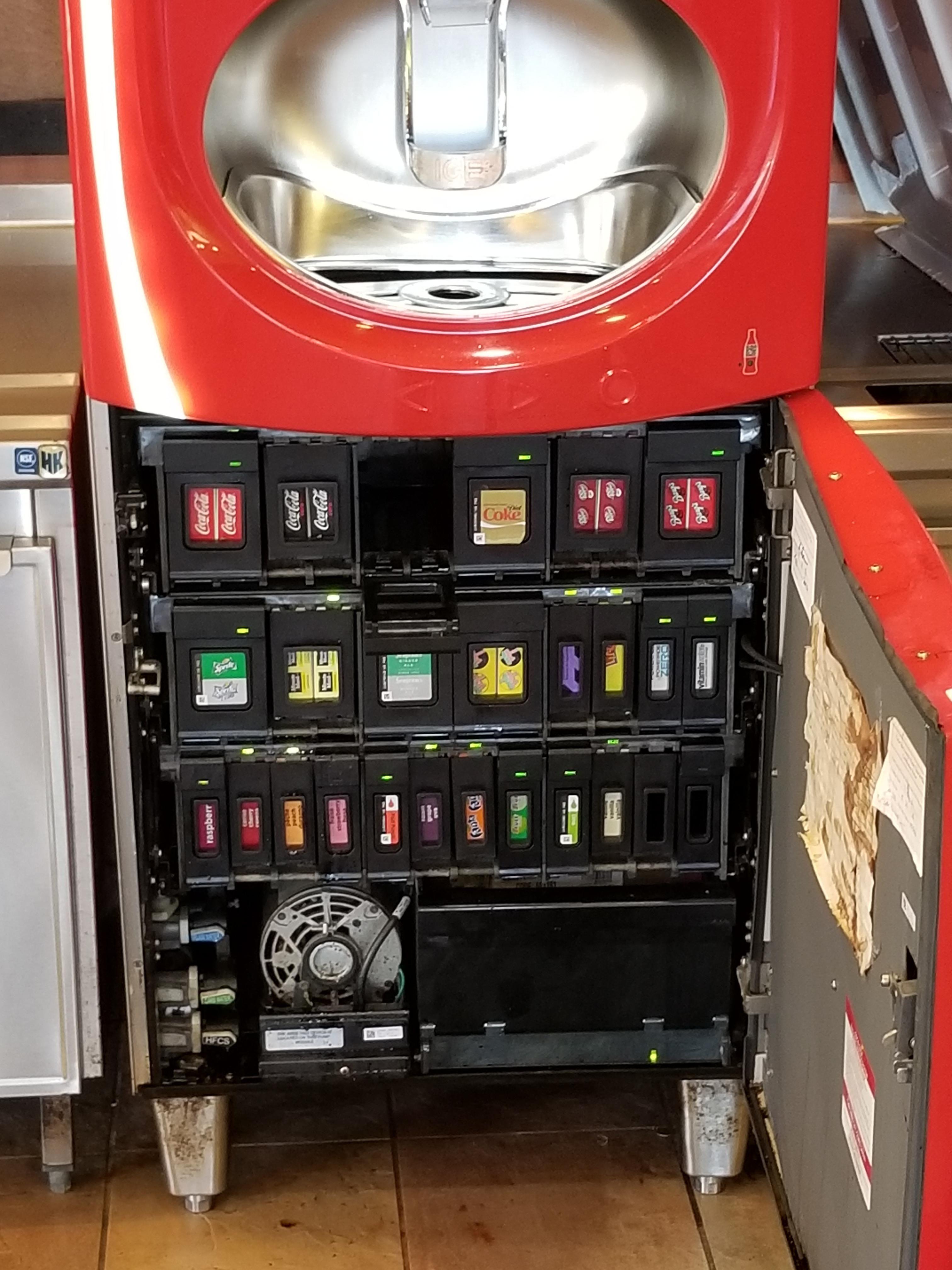 Coca Cola Fridge >> Inside of a Coke Freestyle machine | Classic Vending ...