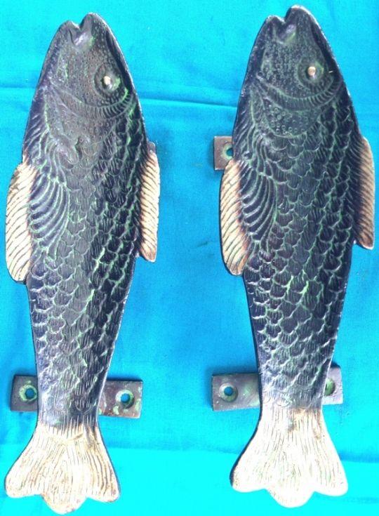Brass fish door handle | Beautiful Things | Pinterest | Door handles ...