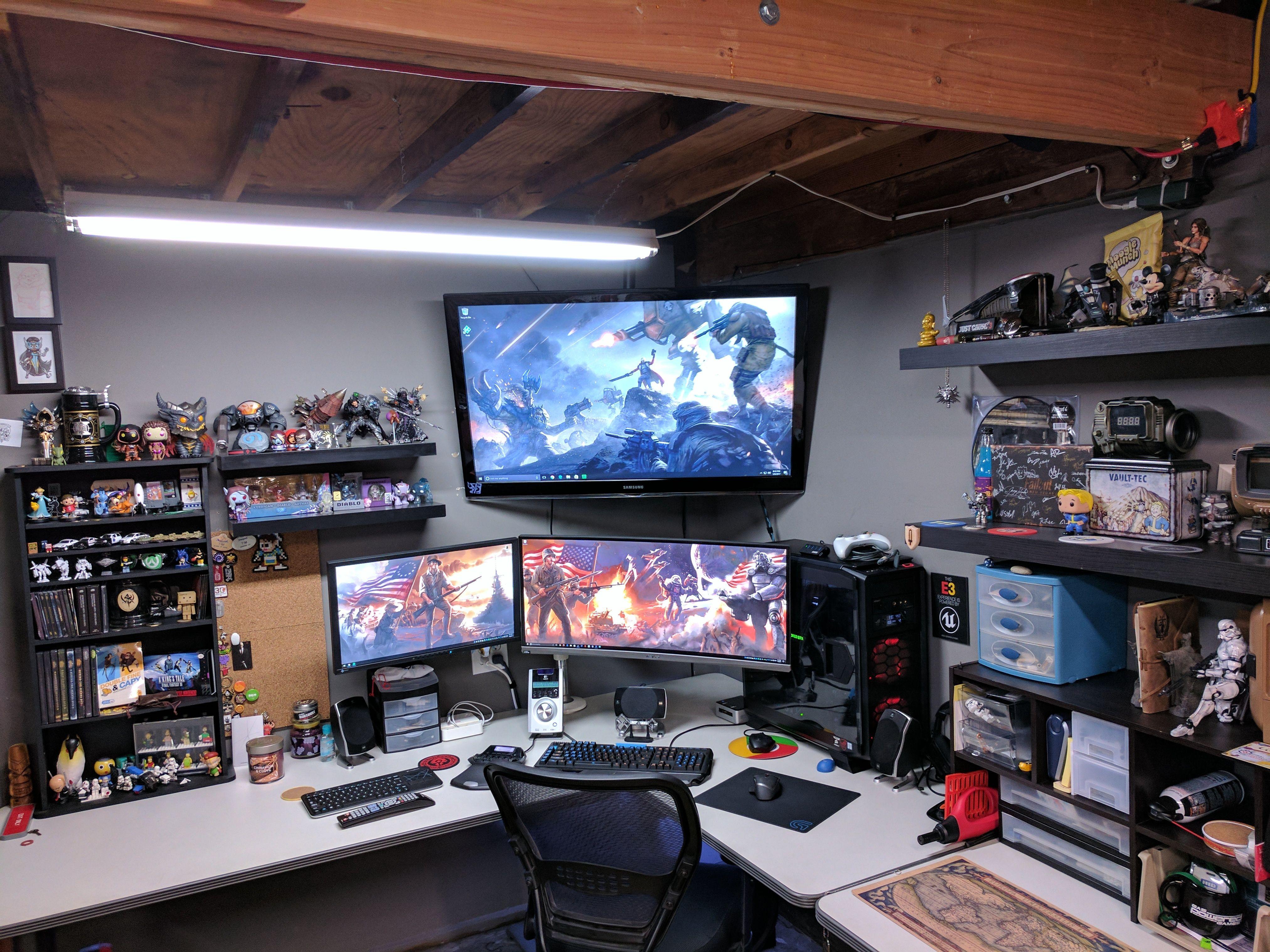 garage battlestation function over form suggestions welcome garage battlestation function over form suggestions welcome