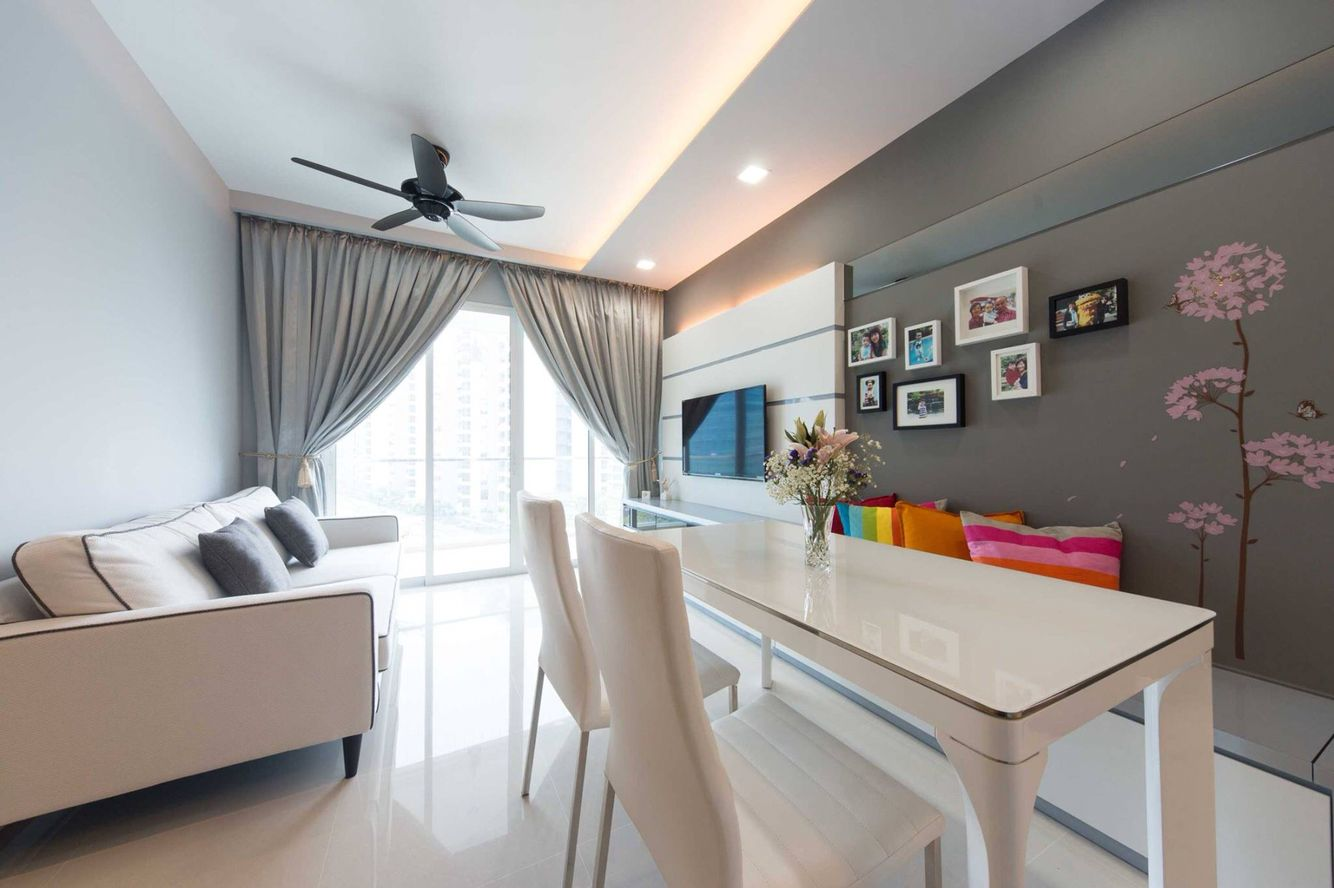 Hdb Bto Living And Dining Area Love The Bench That Extends To The