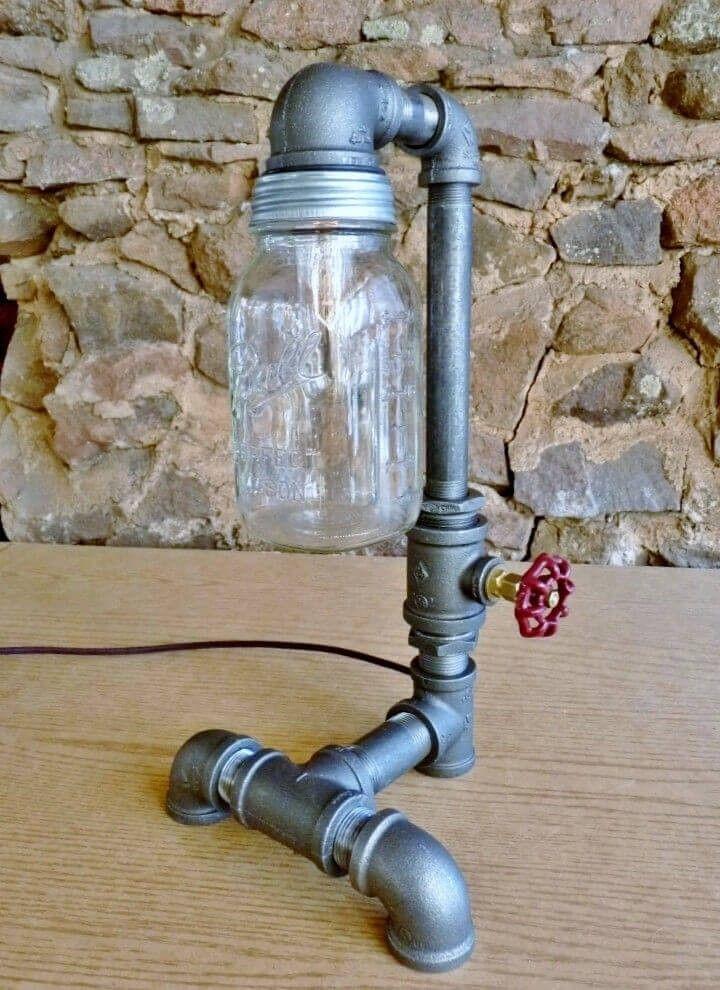 Diese Deluxe Einmachglas Lampe Steht 17 Zoll Groß Und Verfügt über Eine  Starke Base Und