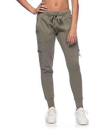 ac0f5a49d Empyre Milana Olive Knit Cargo Jogger Pants