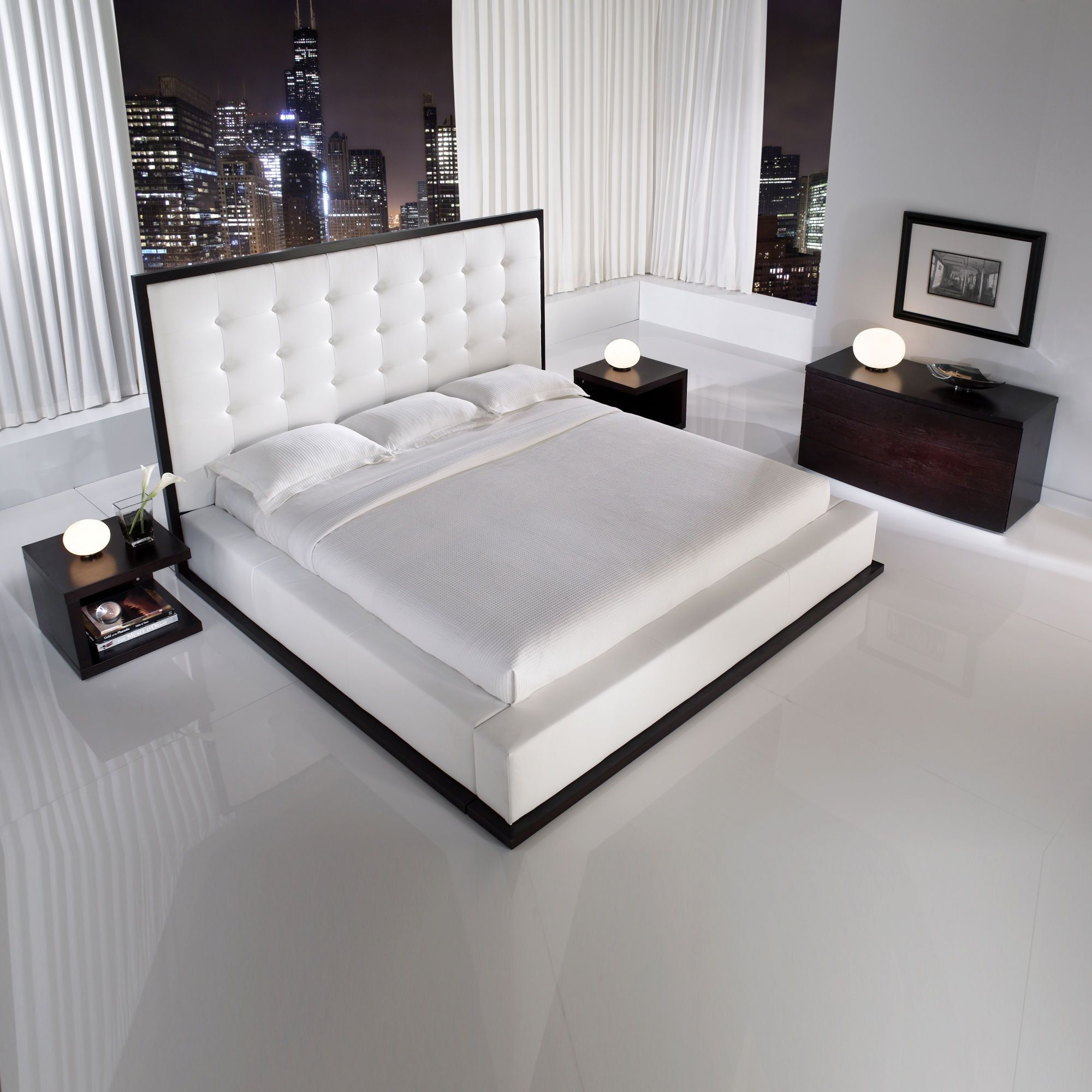 Modloft ludlow bed in white master suite