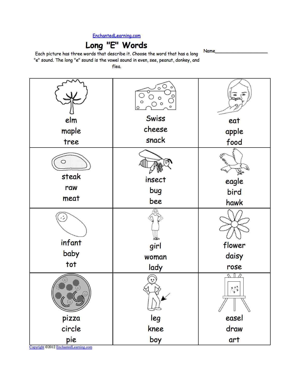 Worksheet For Kindergarten Reading About Long Vowel Sounds Google Search Vowel Sound Fun Worksheets For Kids Long E Words [ 1649 x 1275 Pixel ]