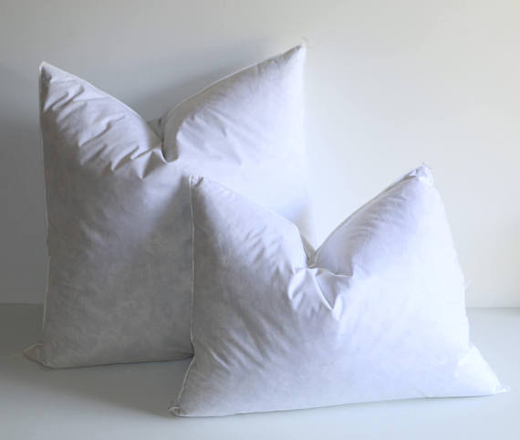 Down Pillow Insert 22x22 Inch Pillow Forms Complete Pillows