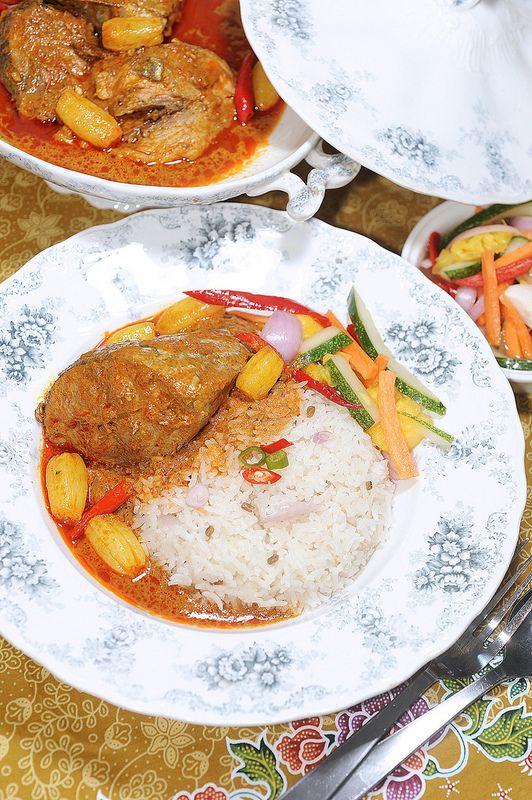 Nasi Dagang Terengganu Gulai Ikan Tongkol Indian Food Recipes Asian Recipes Malaysian Cuisine