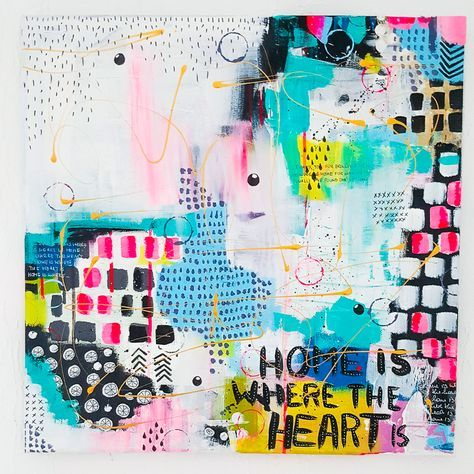 Mixed Media Leinwand - Janna Werner #artjournalmixedmediainspiration