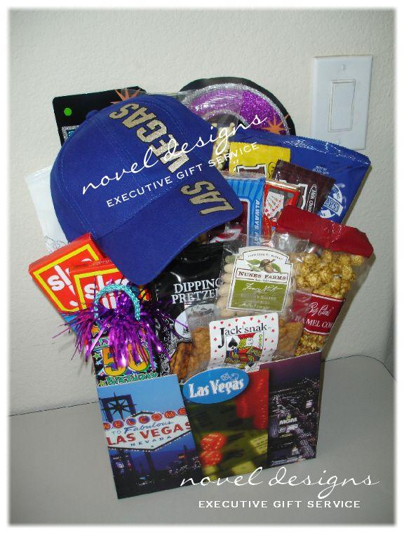 Custom Vegas 50th Birthday Gift Basket