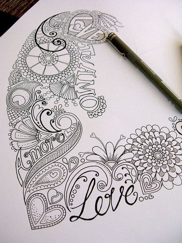 40 Beautiful Doodle Art Ideas | Doodles, Zentangles and Drawings