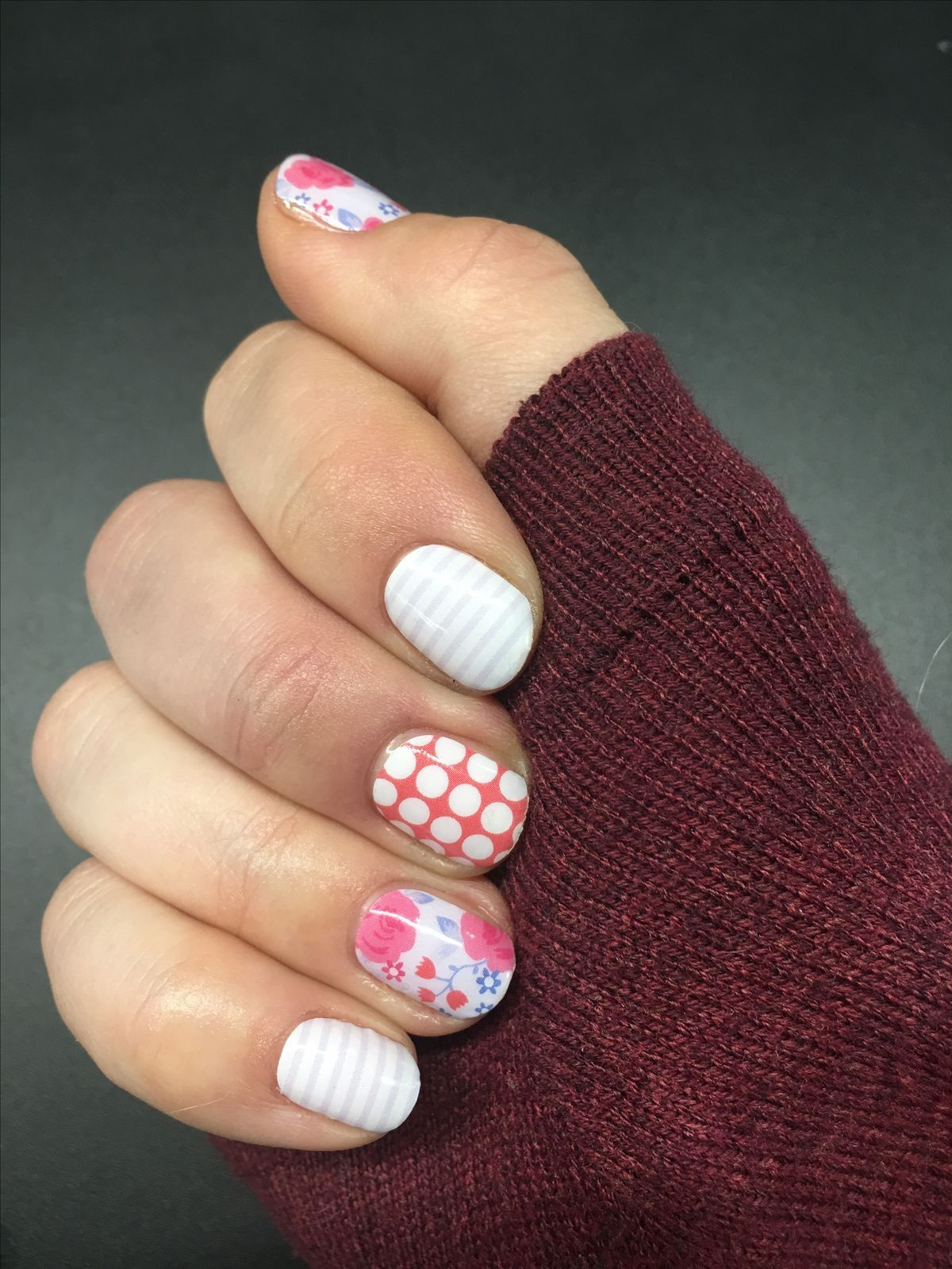 Football Nail Stickers Because #TeamSpirit Without a Jersey Is Possible