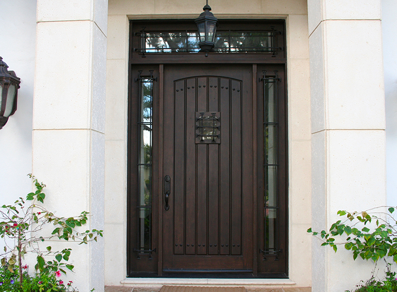 Jeld Wen Wood Jeld Wen Custom Fiberglass Door With Clavos And